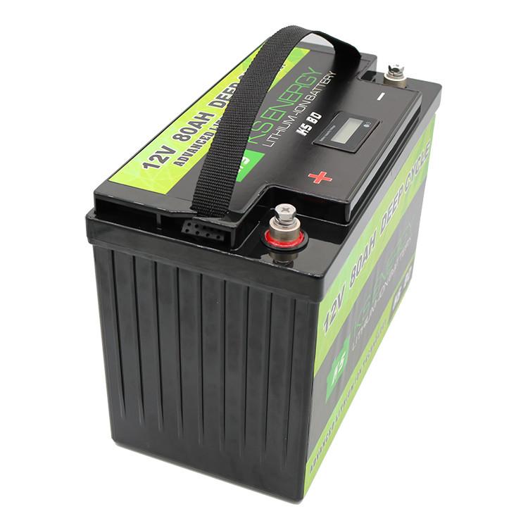 carts lithium ion battery 12v 100ah bulk production led display GSL ENERGY
