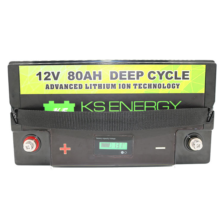 GSL ENERGY-More Safer And Lightweight LED Power Display 12V 80Ah Lithium Iron Phosphate Battery-1