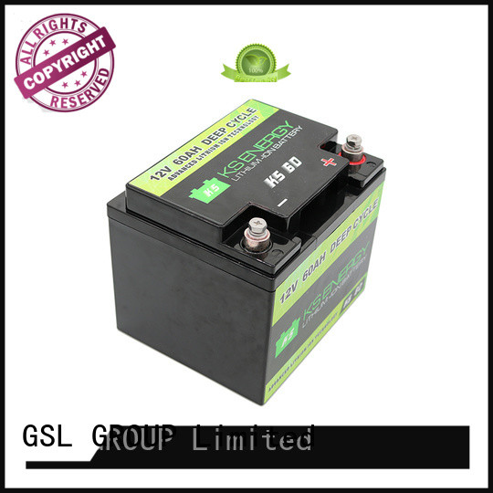 rv battery display GSL ENERGY Brand 12v 50ah lithium battery supplier