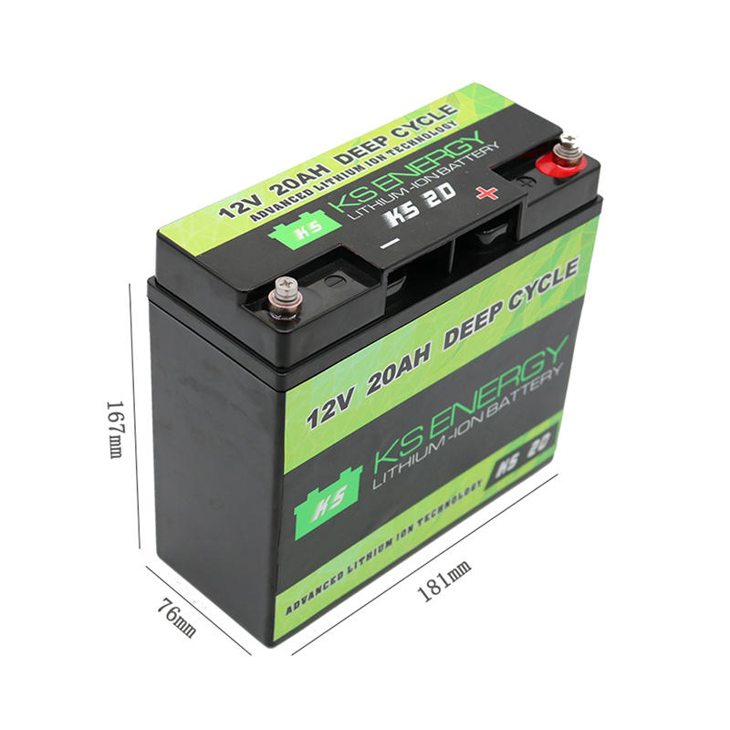 12V 20AH Rechargeable Lithium Ion Battery Deep Cycle
