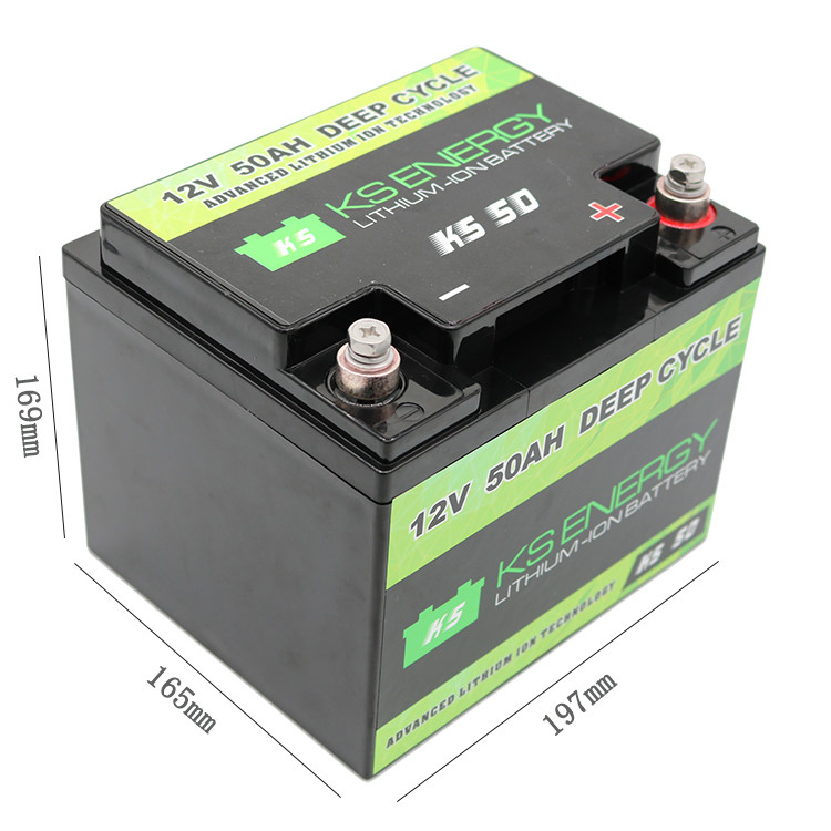 Hot 12v 50ah lithium battery led GSL ENERGY Brand