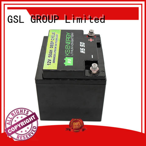 Quality GSL ENERGY Brand camping cycle 12v 50ah lithium battery
