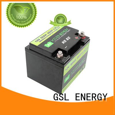 GSL ENERGY Brand llithium liion 12v 20ah lithium battery motorcycle supplier