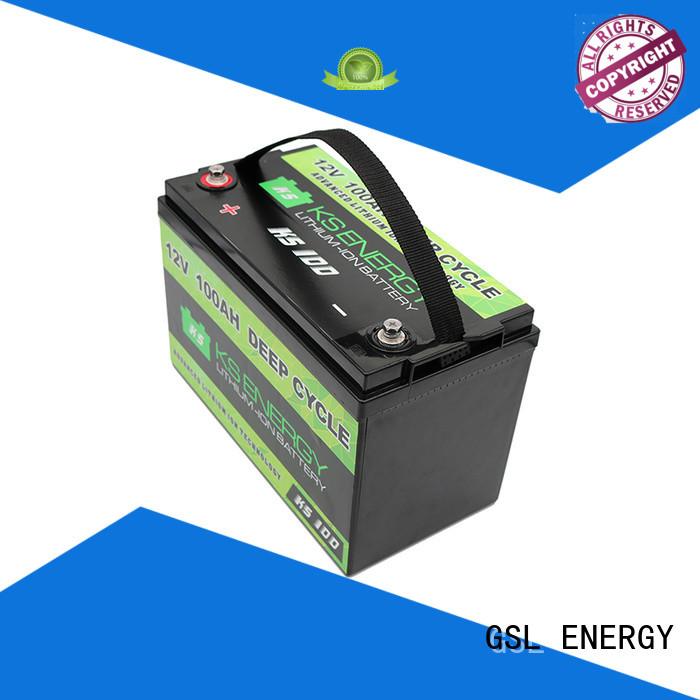 battery more deep 12v 50ah lithium battery led GSL ENERGY Brand