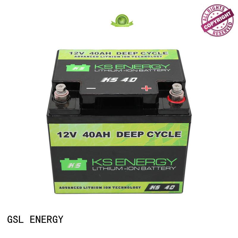 GSL ENERGY energy saving lifepo4 battery 12v 100ah bulk production for cycles