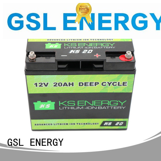 GSL ENERGY Brand solar lithium cycles 12v 20ah lithium battery