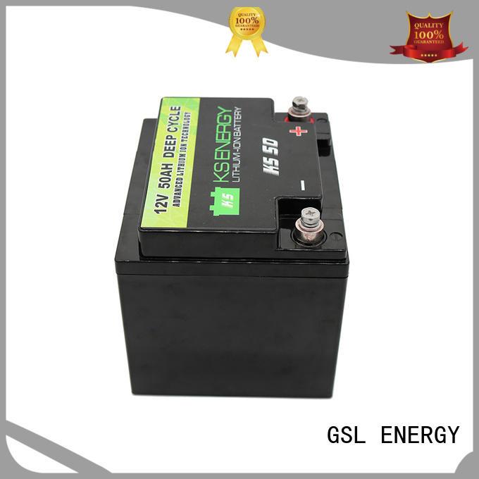 Hot 12v 50ah lithium battery lithium GSL ENERGY Brand
