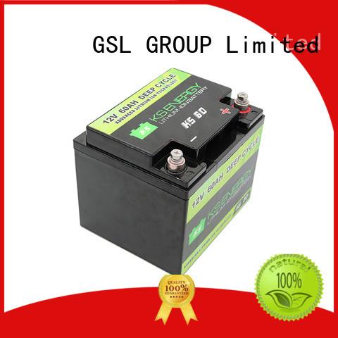 Quality GSL ENERGY Brand display lifepo4 12v 50ah lithium battery