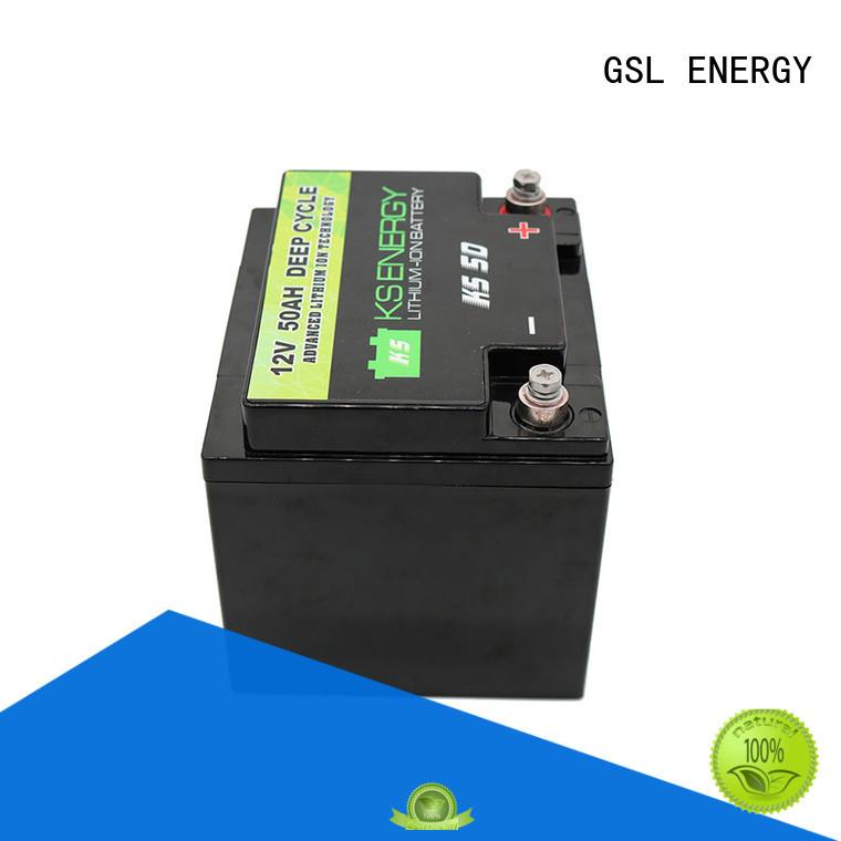 solar Custom lithium deep 12v 50ah lithium battery GSL ENERGY display