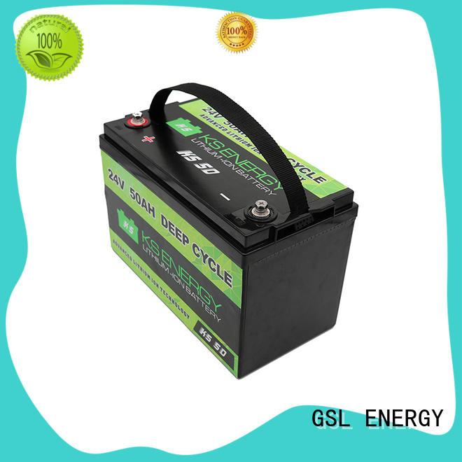 GSL ENERGY deep cycle 24v lithium ion battery for office automation