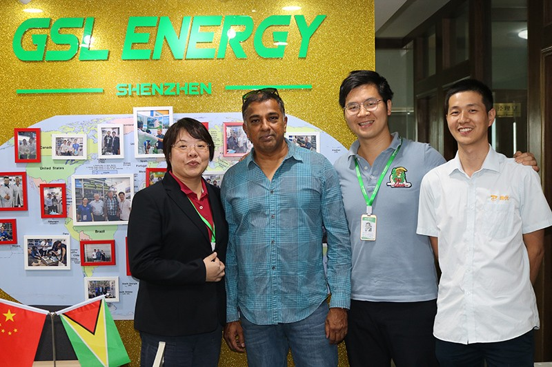 GSL ENERGY-Guyana Client Mr Paul James Visited Gsl Energy For Latest Powerwall 2