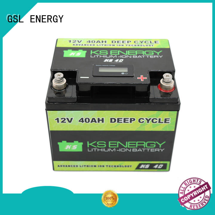 GSL ENERGY long lasting 12v 50ah lithium battery free sample led display