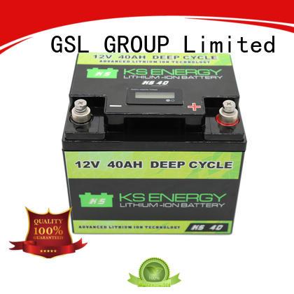liion display 12v 50ah lithium battery led GSL ENERGY