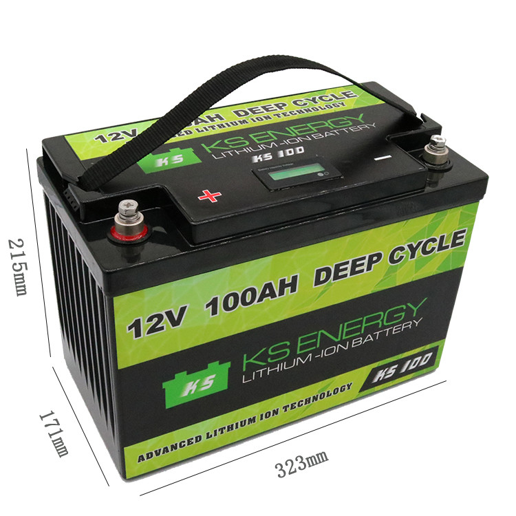 12V 100AH Lithium Battery With LED Capacity Display