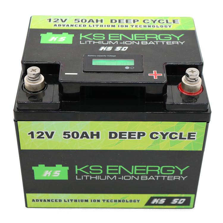 12V 50AH Li-ion Battery With LED Capacity Display