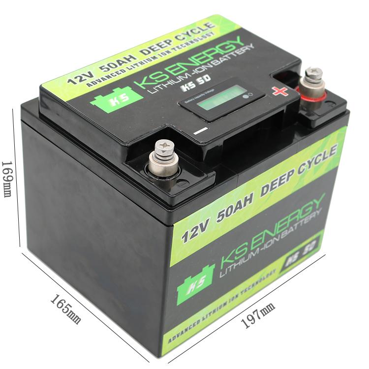 GSL ENERGY-Rv Battery | 12v 50ah Li-ion Battery With Led Capacity Display - Gsl Energy-1