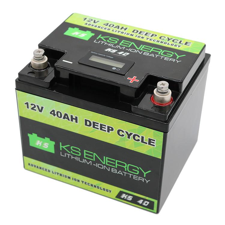 LED Capacity Display Lifepo4 12V 40AH Lithium Ion Battery