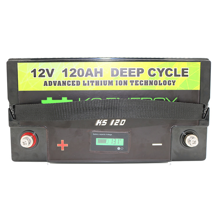 LiFePO4 Rechargeable Batteries 3.2v Baseline Battery 12V 120Ah Lithium Phosphate With LED Capacity Display
