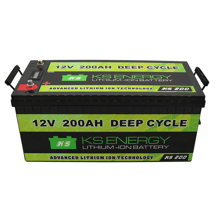 LED Capacity Display 12V 200Ah Lithium Iron Phosphate LifePo4 Battery For Solar Energy Storage, Golf Carts, RV, Marine, And Off-grid Applications