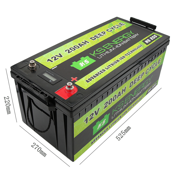 GSL ENERGY-Led Capacity Display 12v 200ah Lithium Iron Phosphate Lifepo4 Battery For-1