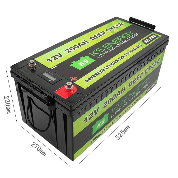 GSL ENERGY-LED Capacity Display 12V 200Ah Lithium Iron Phosphate LifePo4 Battery For Solar Energy St-3