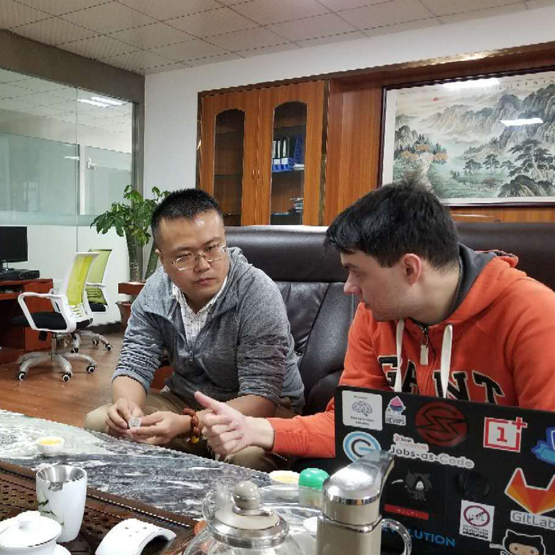 UK VIP client Mr. MARK visited GSL ENERGY lifepo4 battery factory