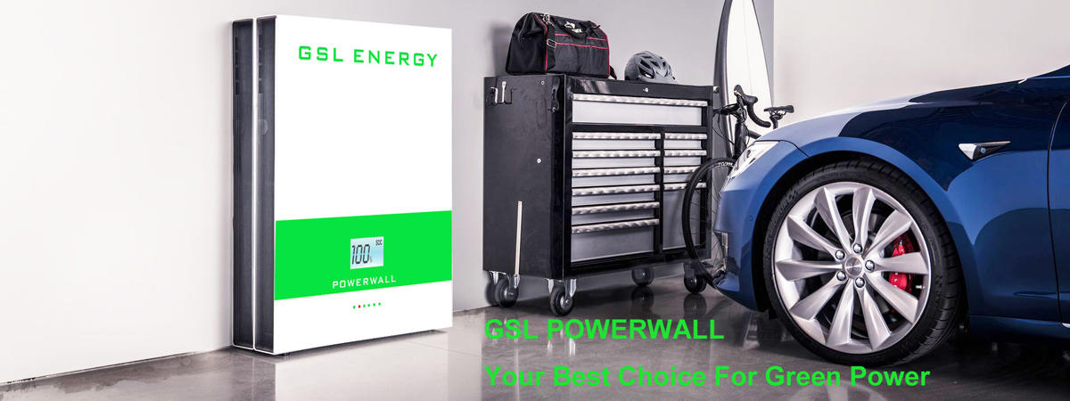 home lifepo4 mounted powerwall battery lithium GSL ENERGY Brand