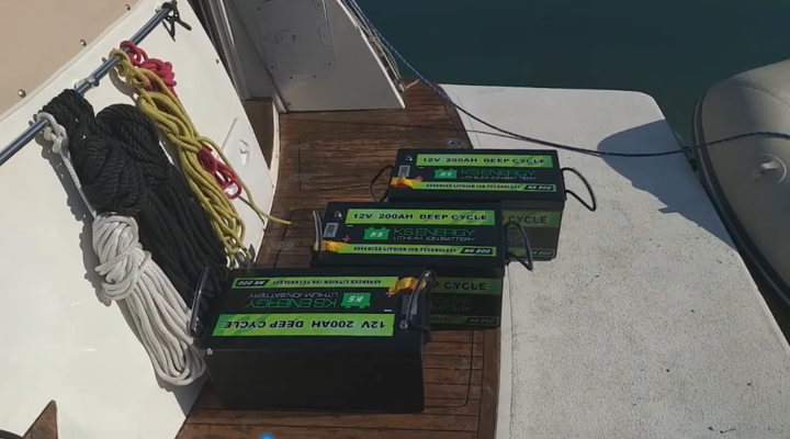 GSL ENERGY ( KS ENERGY)  12V 200AH ( KS200) is perfectly used for Yacht/Boat/Marine 12V UPS Power in Germany