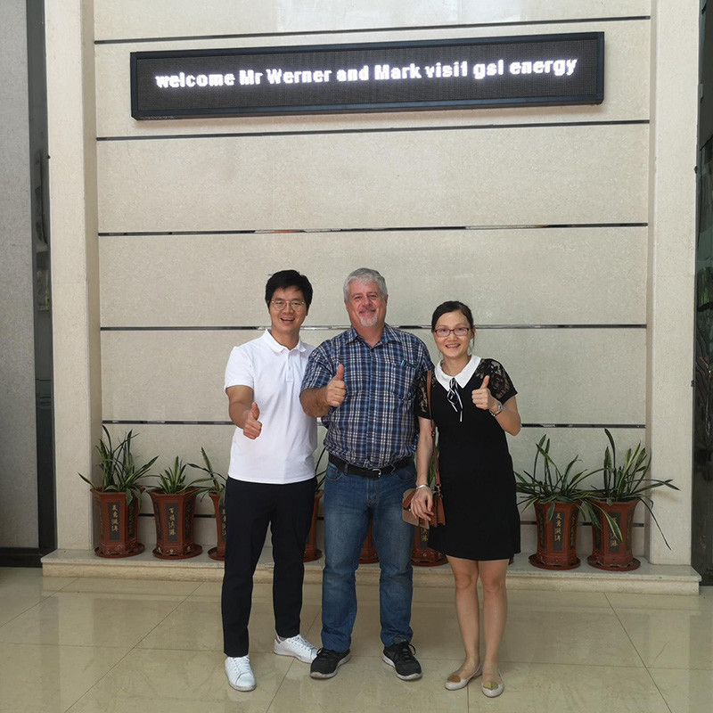 South African client Mr. Thomas Visited GSL ENERGY factory for POWERWALL ESS Cooperation