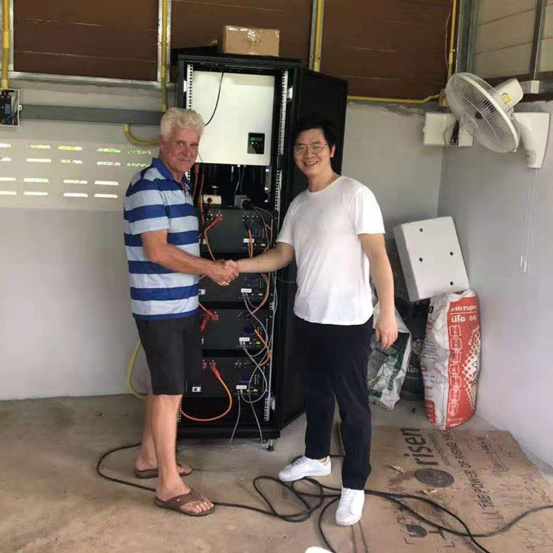 GSL ENERGY offers excellent ESS20KWH 5KVA Smart Solar Home System to Thailand clients villas House