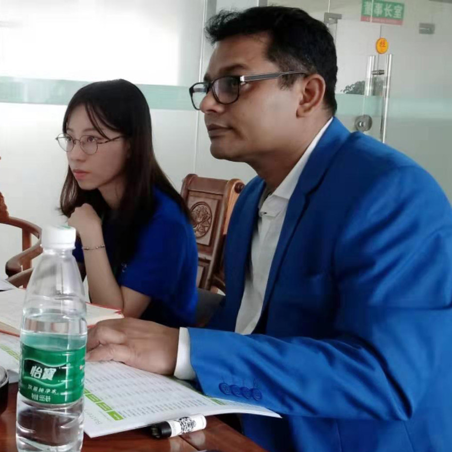 Bangladesh clients Mr. Benzir visited GSL ENERGY factory for 12V lithium battery and 48v dc rack design lithium battery coope