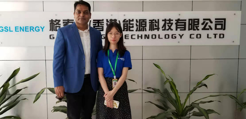 GSL ENERGY-Bangladesh Clients Mr Benzir Visited Gsl Energy Factory For 12v Lithium