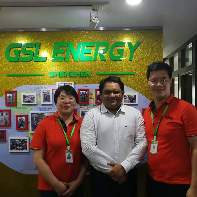 Bangladesh client Mr. Nabi Visited GSL ENERGY for Powerwall and 5U rack 48v 100ah lifepo4 battery cooperation