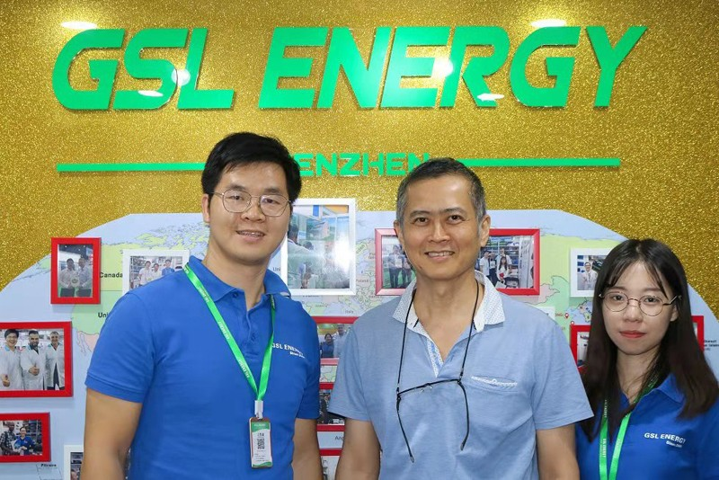 GSL ENERGY-Indonesian Client Mr Thomas Visits Gsl Energy For 48v 100ah Golf Cart