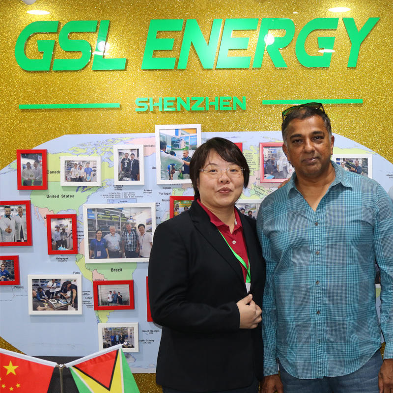 Guyana client Mr. Paul James visited GSL ENERGY for latest powerwall 2 lifepo4 lithium battery cooperation