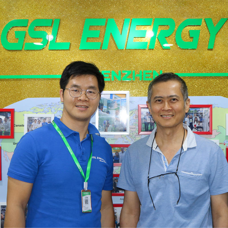 Indonesian client Mr. Thomas visits GSL ENERGY for 48v 100ah golf cart lifepo4 lithium battery cooperation