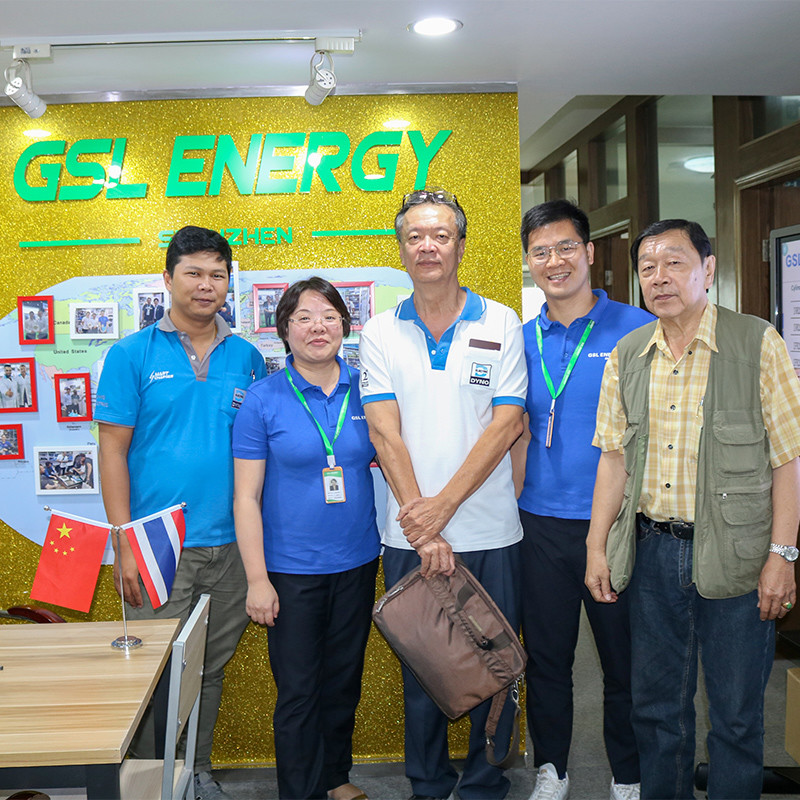 Thailand client Mr. Lee visited GSL ENERGY for 26650 cells and lithium battery packs cooperation