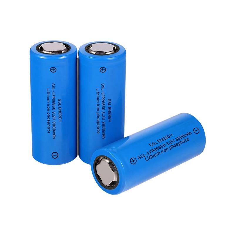Rechargeable Solar Street Light LiFePO4 Lithium Ion 3.2V 3600mAh 26650 Battery