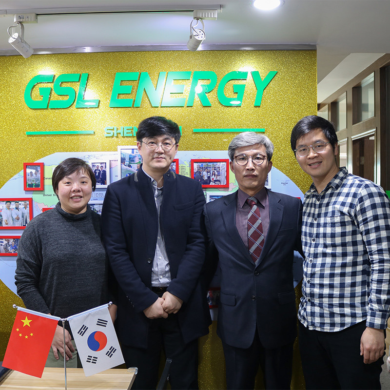 Warmly welcome South Korean clients Mr. Choi and Mr. Han visit GSL ENERGY for 12v lifepo4 battery cooperation on electric wheelchairs