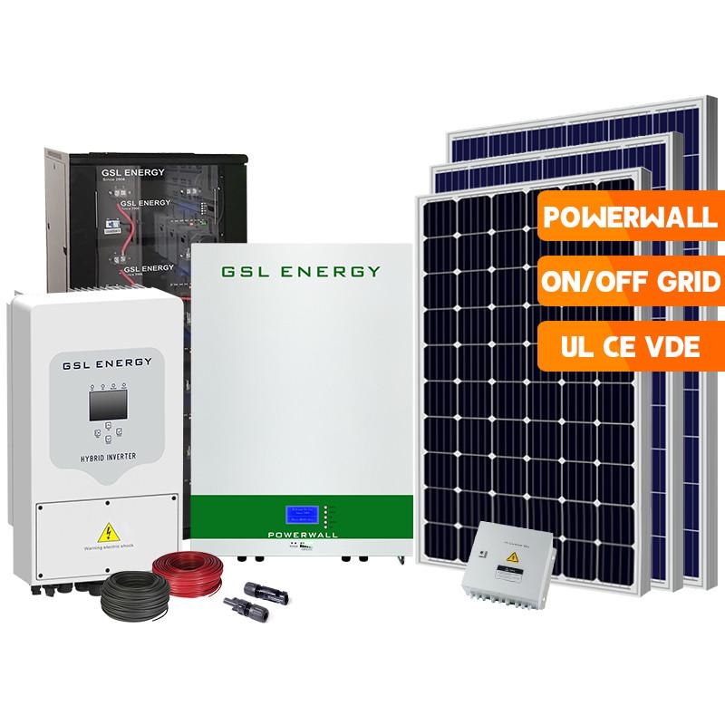 25 Years Warranty LiFePO4 Battery Power Wall Storage Hybrid Inverter 5Kw Home Solar Energy Systems
