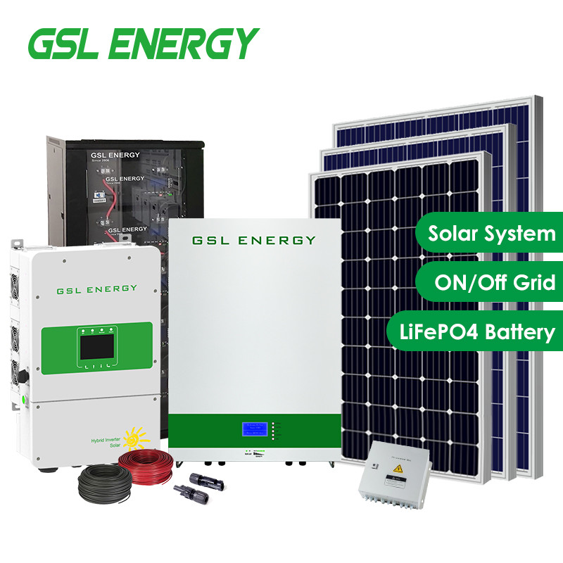 25 Years Warranty LiFePO4 Battery Power Storage Wall Hybrid Inverter 5Kw Home Solar Energy Systems
