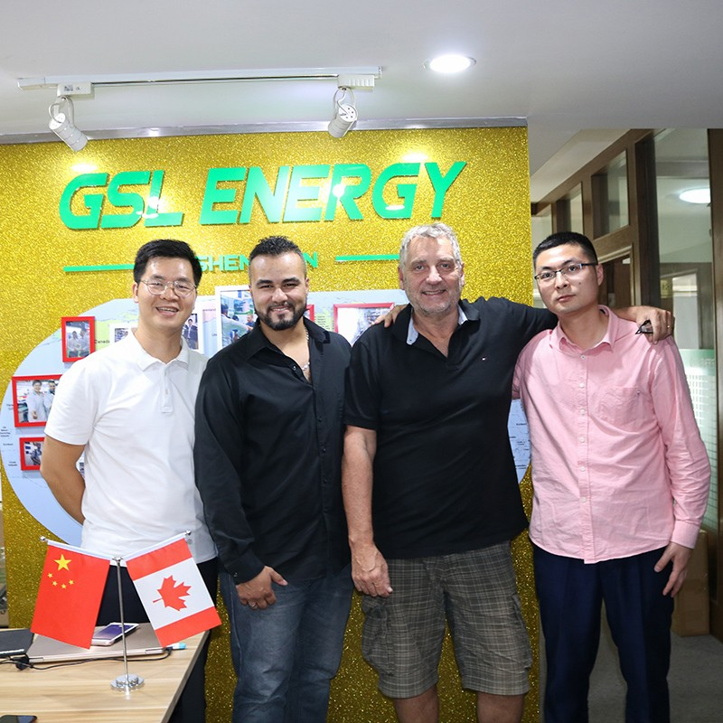 news-Guyana client Mr Paul James visited GSL ENERGY for latest power storage wall 2 lifepo4 lithium