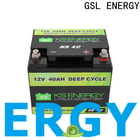 GSL ENERGY 2020 hot-sale lifepo4 rv battery free maintainence wide application