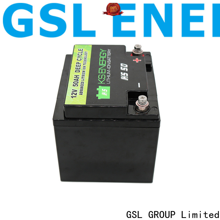 GSL ENERGY 2020 hot-sale 12v 100ah solar battery free maintainence for camping car