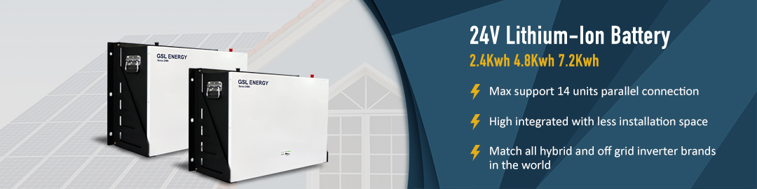 product-GSL ENERGY-GSL ENERGY Lifepo4 24V 100Ah Power wall Lithium Ion Battery 24Kwh For Home Energy