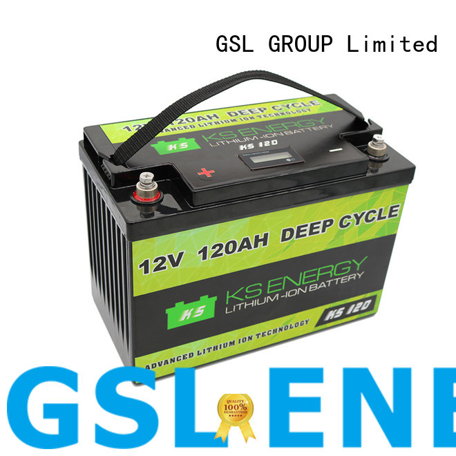GSL ENERGY lifepo4 battery 12v 100ah free maintainence for camping car