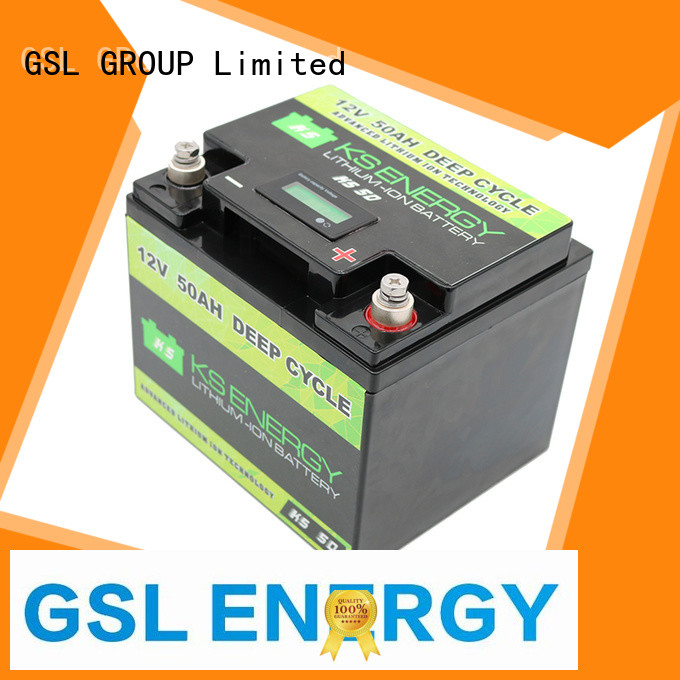 applications lithium rv battery phosphate for camping GSL ENERGY