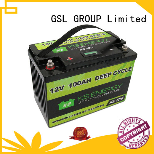 rechargeable marine led 12v 50ah lithium battery GSL ENERGY Brand company