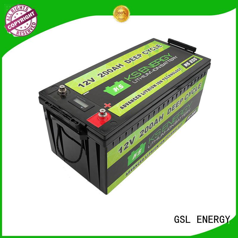 GSL ENERGY large capacity lifepo4 battery 100ah led display