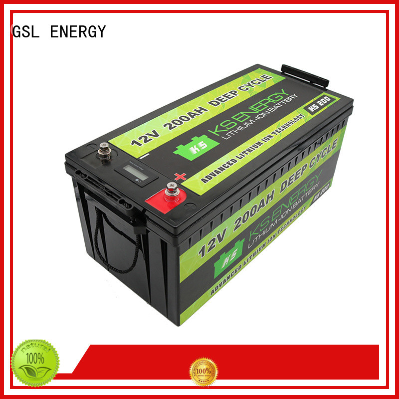 lithium ion battery 12v 100ah caravans for camping GSL ENERGY